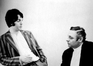 July 1968. Paul with 'Yellow Submarine' producer Al 'It's Only a Northern Song' Brodax.