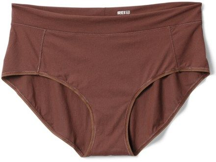 Hike  run and get sweaty in the women's REI Co-op Active Brief underwear. It's so soft and light you might forget you're wearing it. Plus it wicks moisture  dries quickly and is antimicrobial.