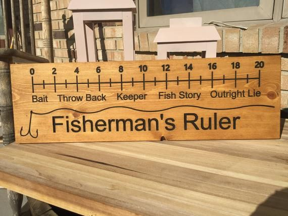 Photo of Fishermans Ruler, fisherman decor, cabin decor, rustic decor, lake house decor, Fathers day gift, fishing signs, birthday gifts, rustic