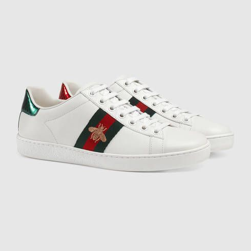 928a70d47a8 GUCCI Embroidered low-top sneaker Bee