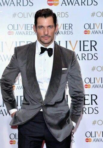 David Gandy at the #OlivierAwards at the Royal Opera House, London || 03/04/16