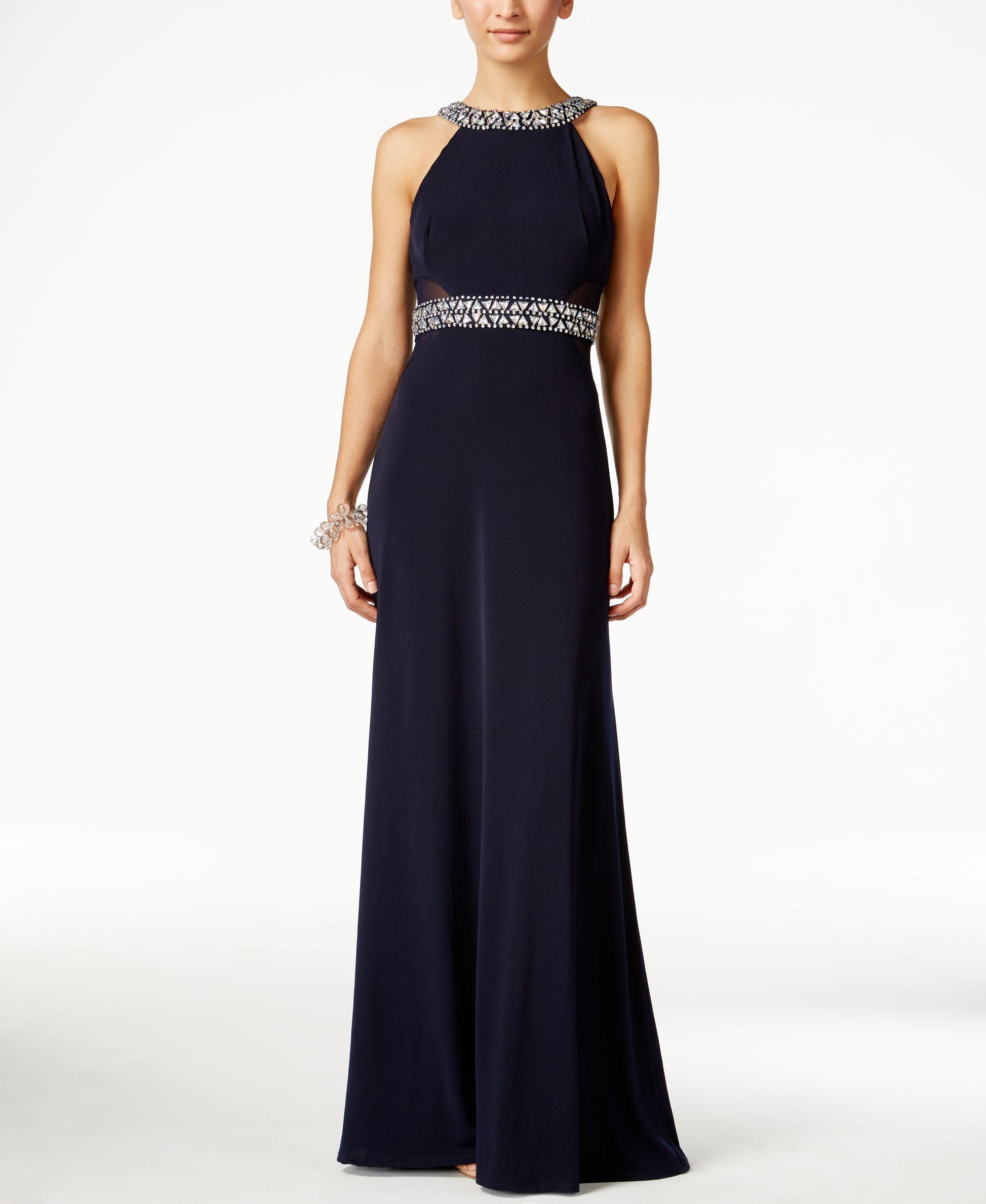 B darlin juniorsu jewelembellished halter dress products