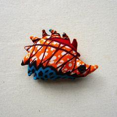 Peluche hérisson wax motif africain turquoise rouge et orange (envoi 0€)