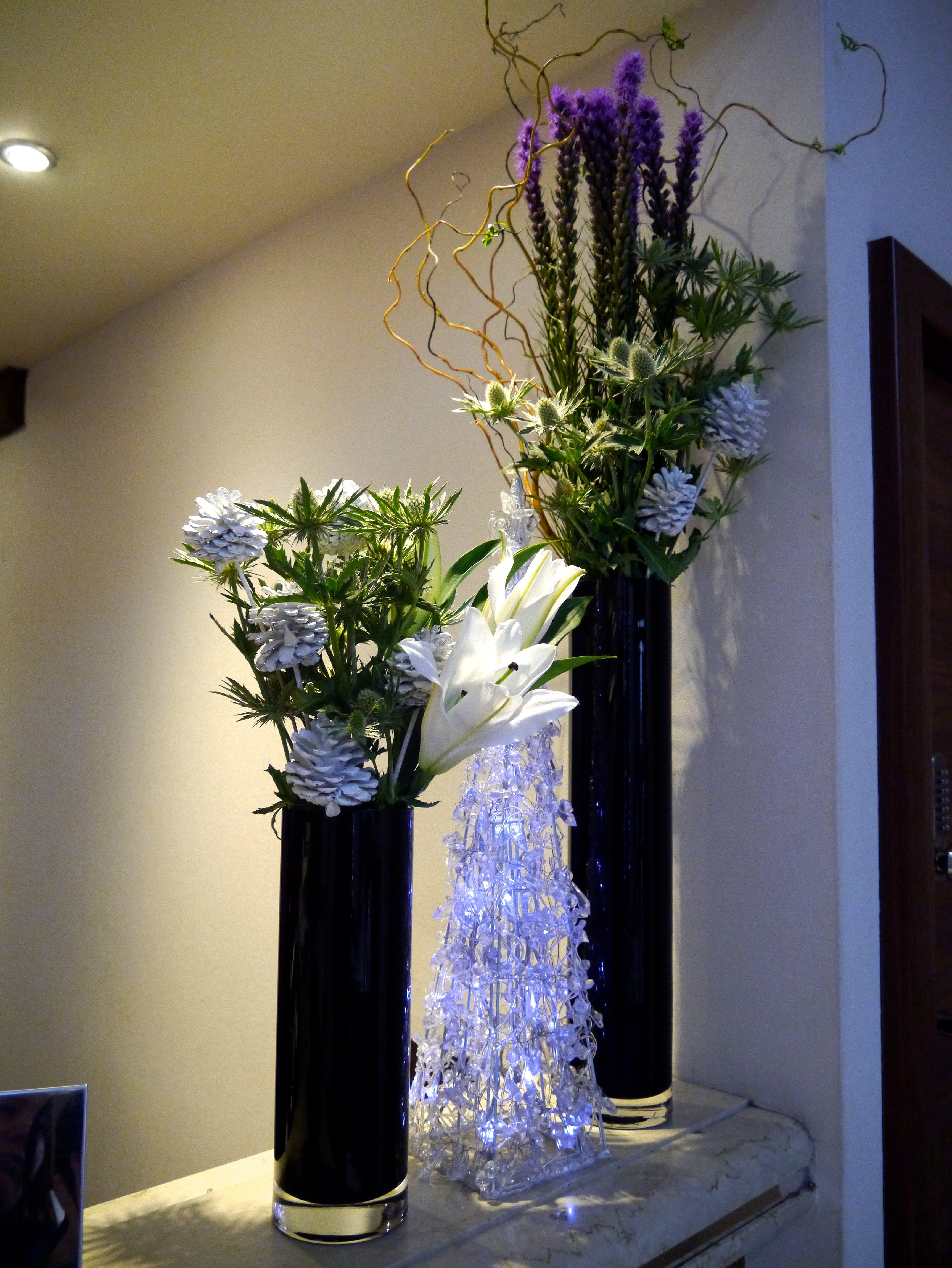 Festive display on the Concierge Desk Floral design