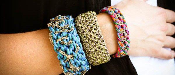 Pulseras Tejidas a Crochet