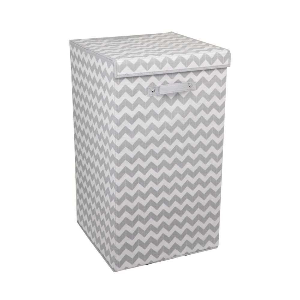 Chevron Grey Laundry Hamper Products Folding Laundry Laundry