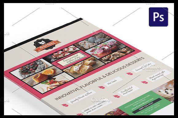 cake flyer magazine ad template by nandita pal on creativemarket