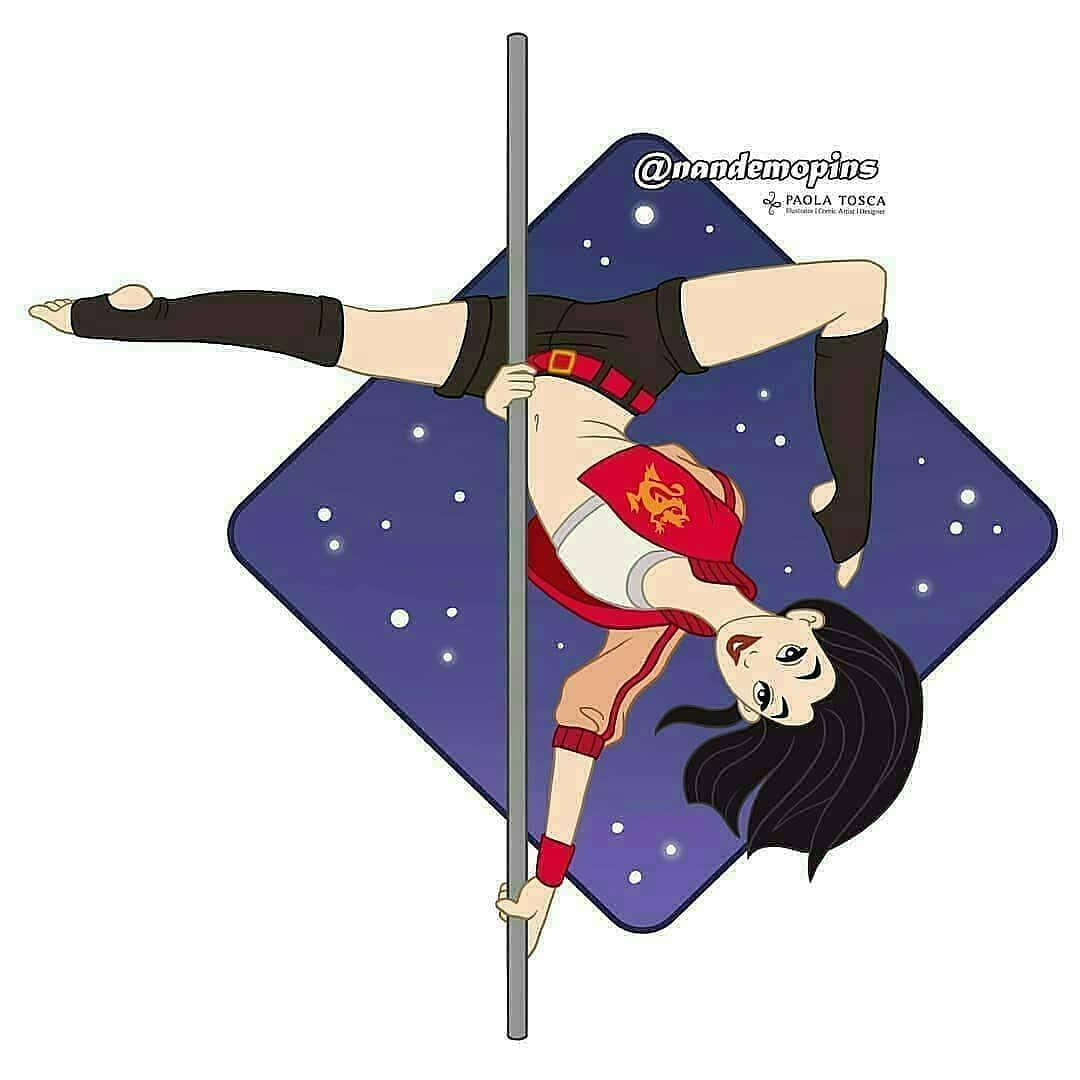 No Photo Description Available Disney Artists Pole Dancing Pole Art