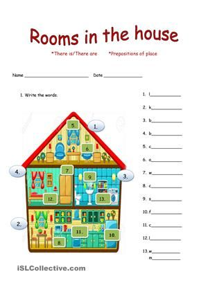 Marvelous This Two Paged Worksheet Is Oriented On Rooms And Furniture Vocabulary. It  Also Contains One Page Filled With Interesting Exercises Regarding THERE  IS/ ...