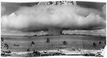 Nuclear Weapon Test – Bikini Atoll  Poster by warishellstore