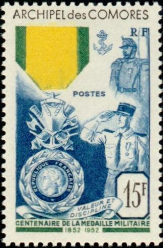 Stamp: Medaille militaire-Military medal (Comoros) (Centenaire de la medaille militaire-Centenary of the Militar) Mi:KM 35,Yt:KM 12