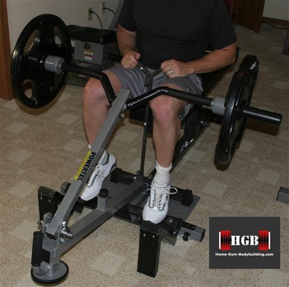 Homemade seated calf raise machine | Homemade gym ...