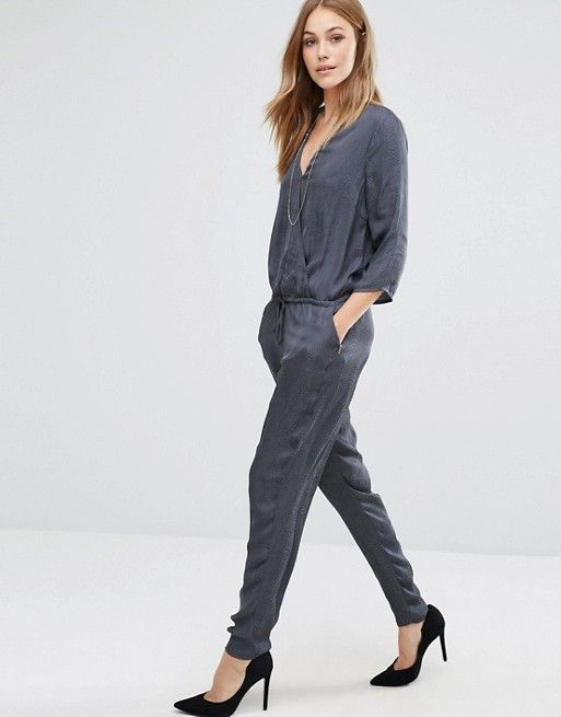 e1e545bdeec Vila Wrap Front Tailored Jumpsuit