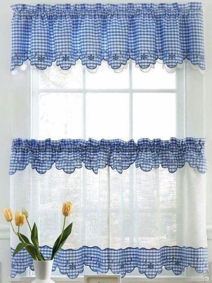 love for kitchen windows   anne   Pinterest   Cortinas, Cortinas ...
