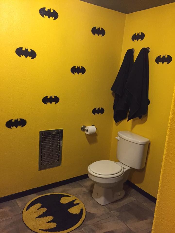 NaNaNaNaNaNaNa BATHROOM! | Man caves, Cave and Superhero room