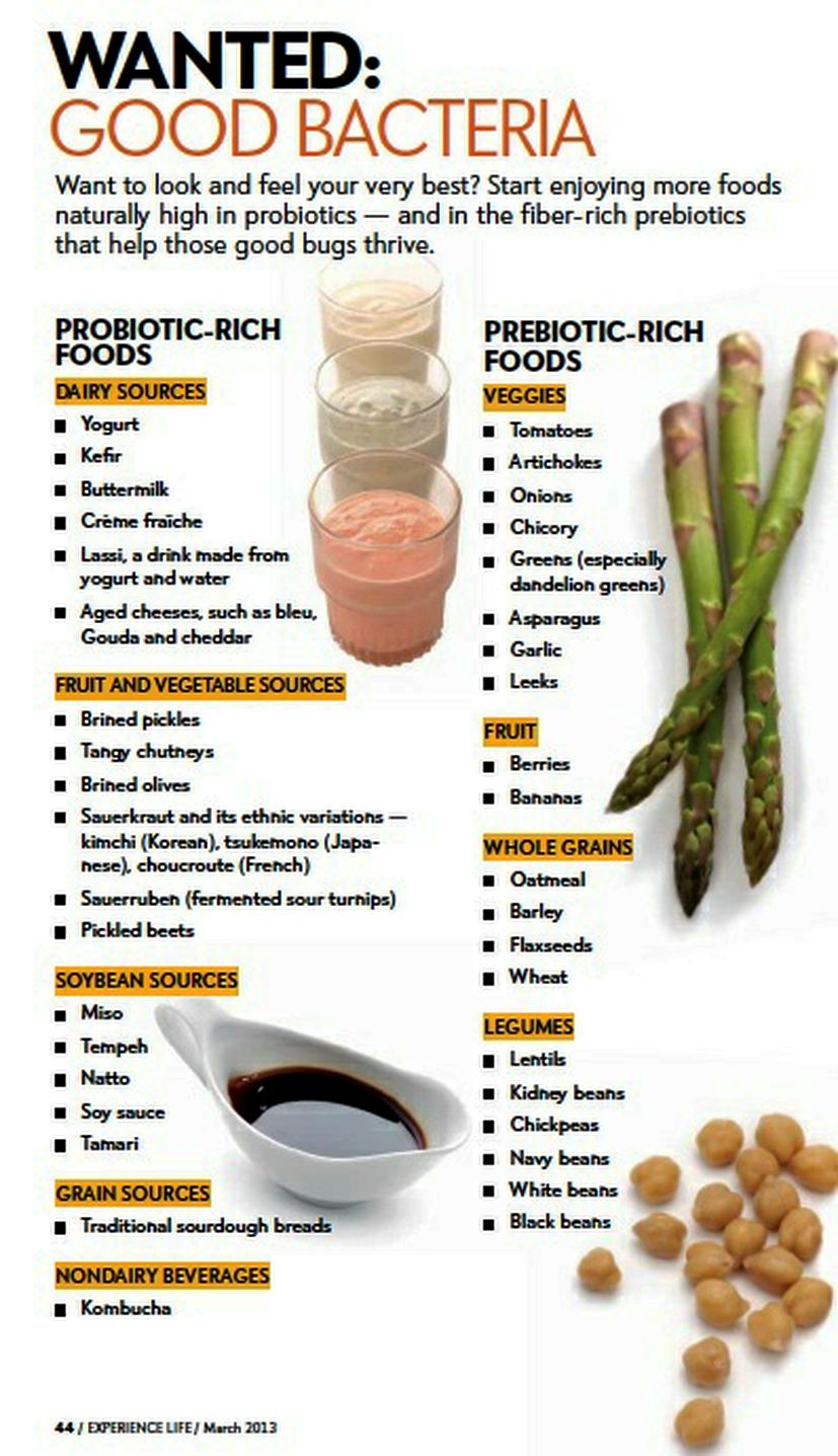 Food and good health - Good Bacteria Probiotic Rich Foods And Prebiotic Foods