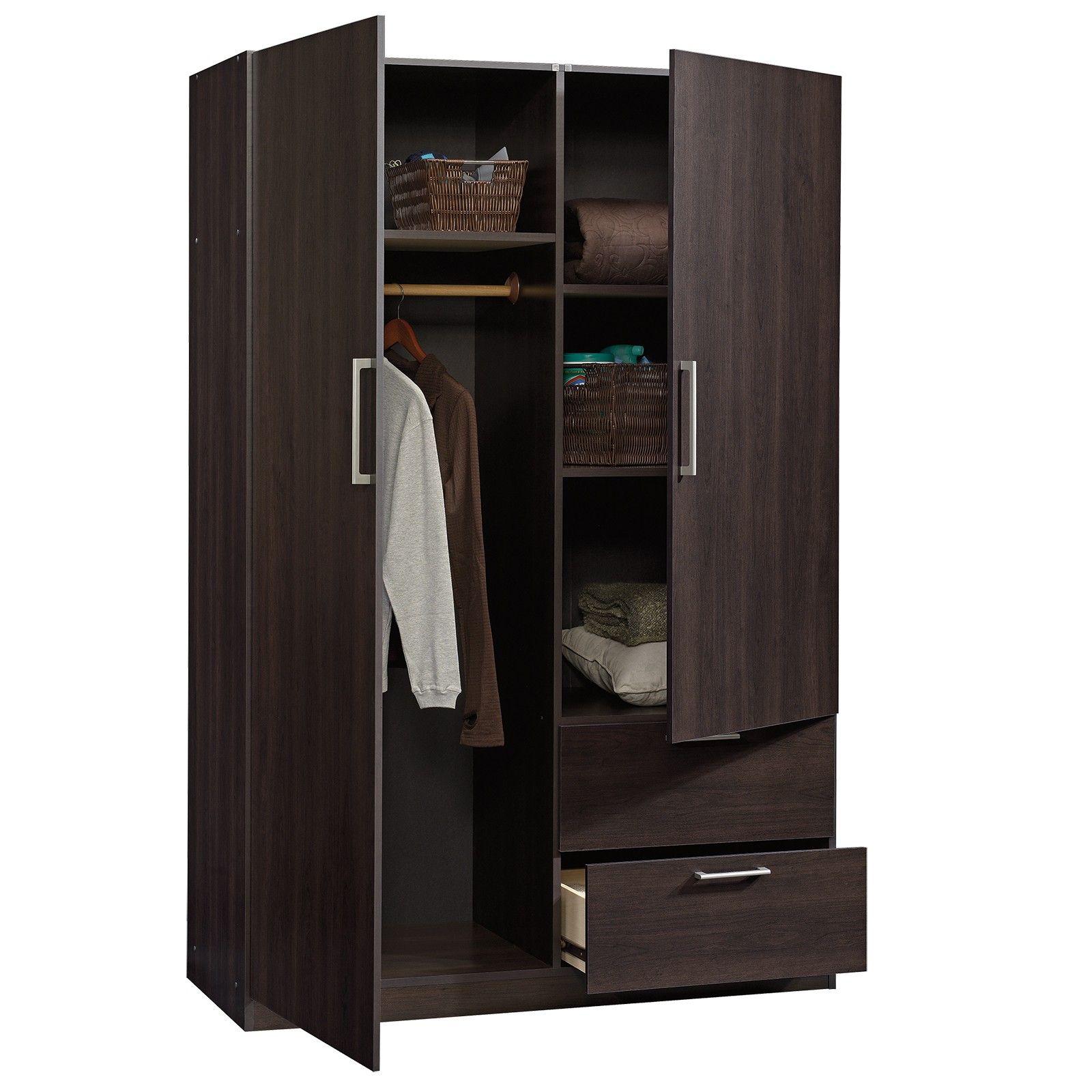 Best Sauder 414273 Beginnings Cinnamon Cherry Wardrobe Storage 400 x 300