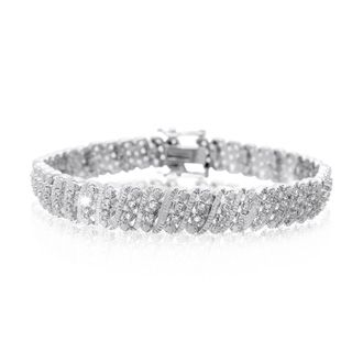 Tennis Bracelet Diamond Tennis Bracelet 1 Carat Four Row Diamond Bracelet Platinum Overlay 7 Inches Best Jewelry Deals Tennis Bracelet Diamond Diamond Bracelet Diamond