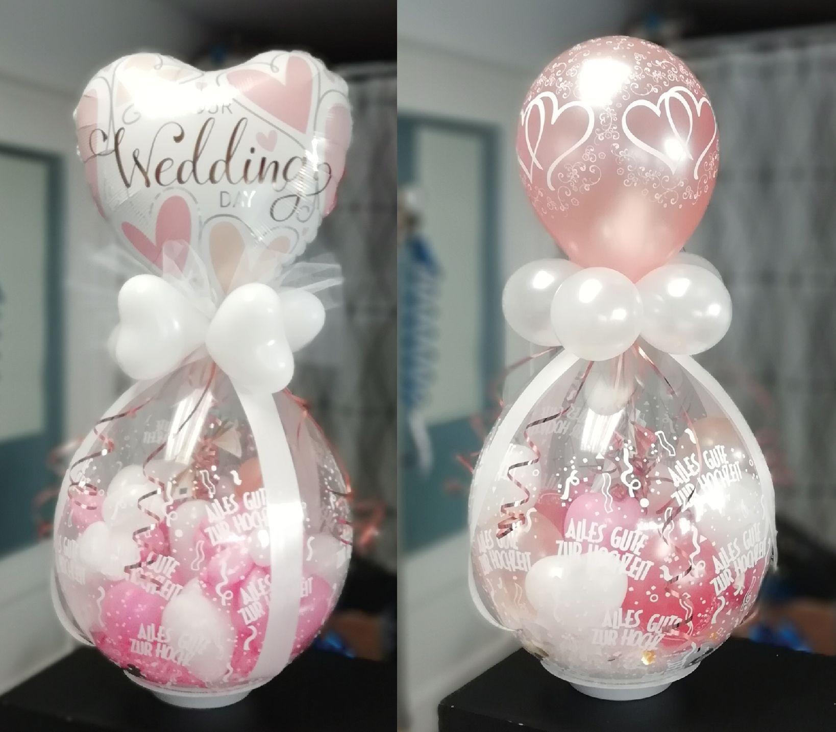Winterhochzeit Ballons Ballondekorationen Dekorieren Dekoration