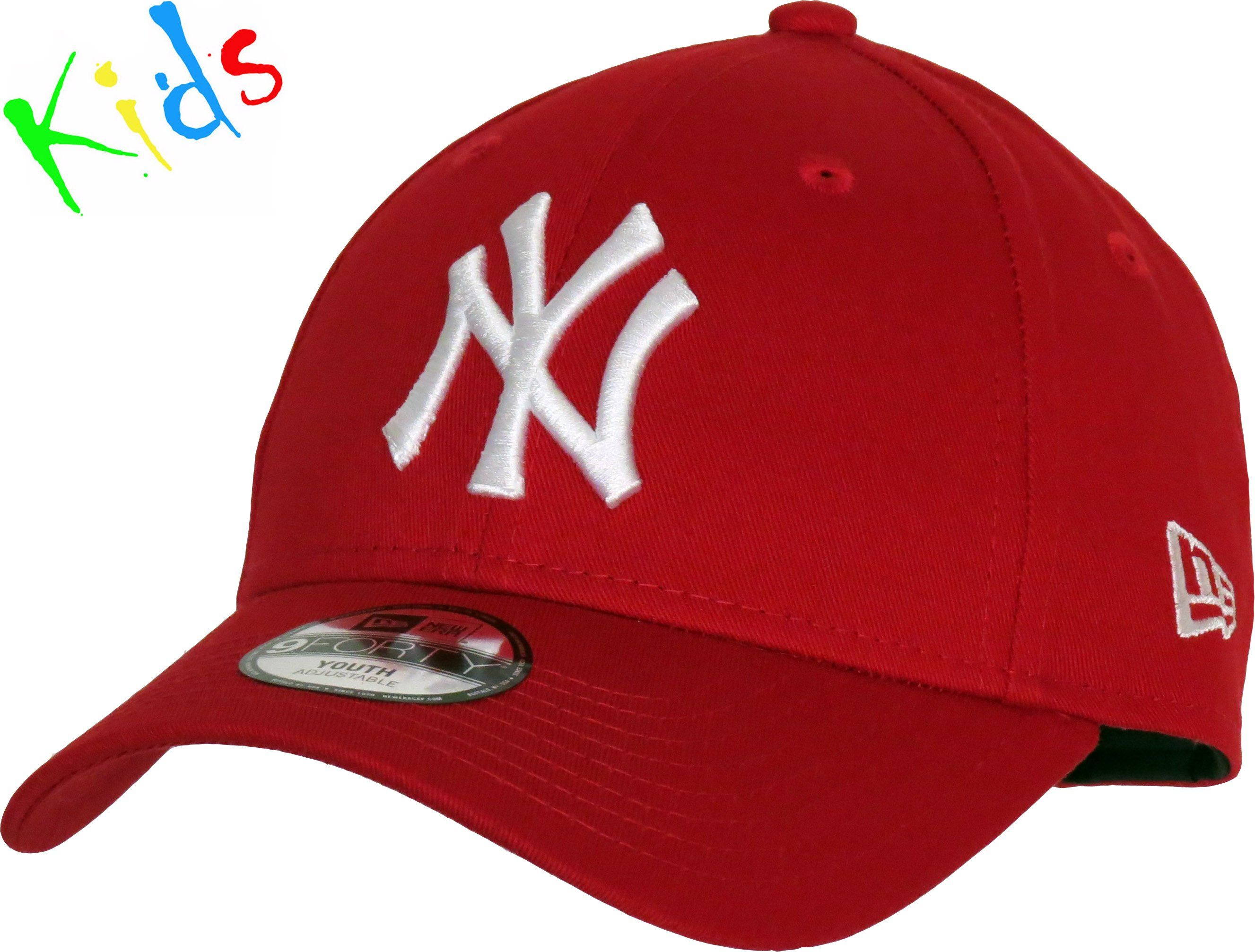 5562929adb0 NY Yankees New Era 940 Kids Scarlet Baseball Cap (Age 4 - 10 Years ...