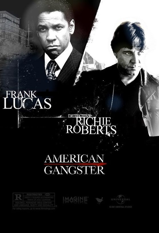 American Gangster Denzel Washington As Frank Lucas And Russell Crowe As Det Richie Roberts Gangstermovie Gangste Gangster Movies Best Movies List Gangster