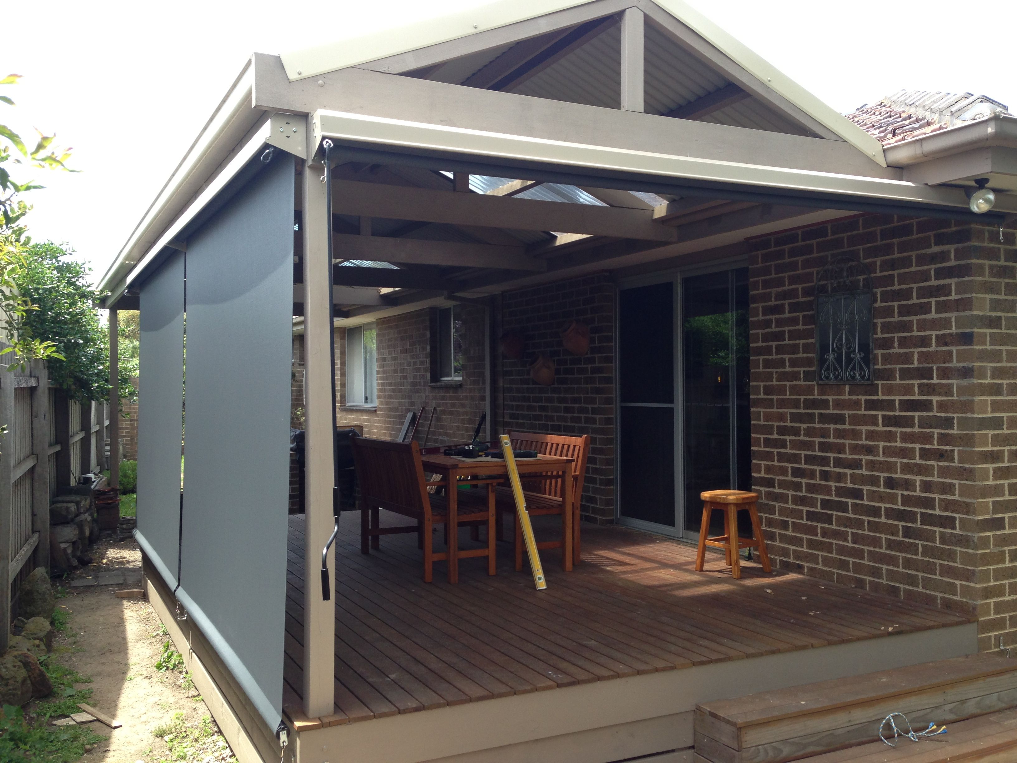 At Top Spot Blinds our outdoor blinds can enclose verandas