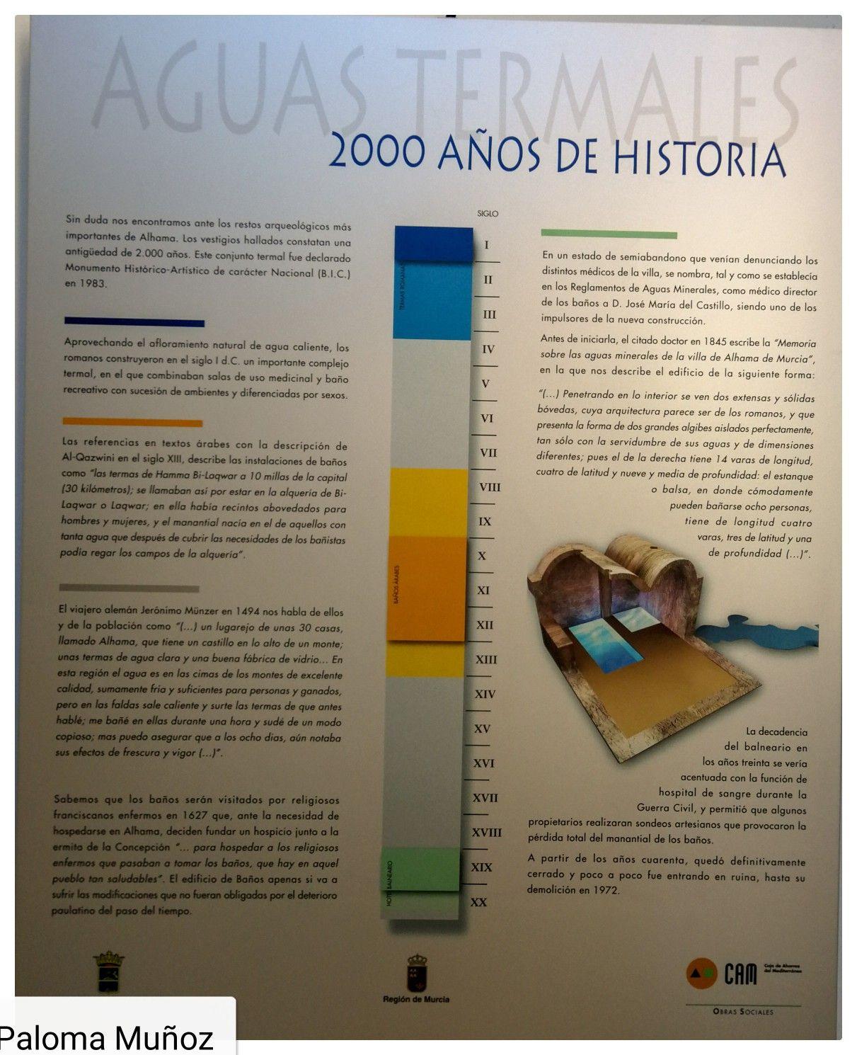 Aguas Termales Cartel Explicativo Museo Arqueológico De Alhama De Murcia Informative Poster Of Termal Wa Gabinetes De Curiosidades Aguas Termales Balneario