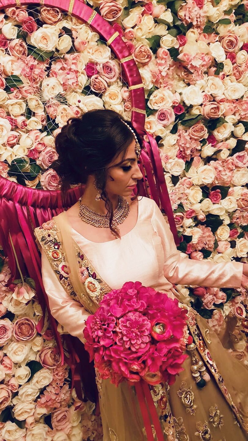 south asian bride at new craven hall, leeds. hair + makeup