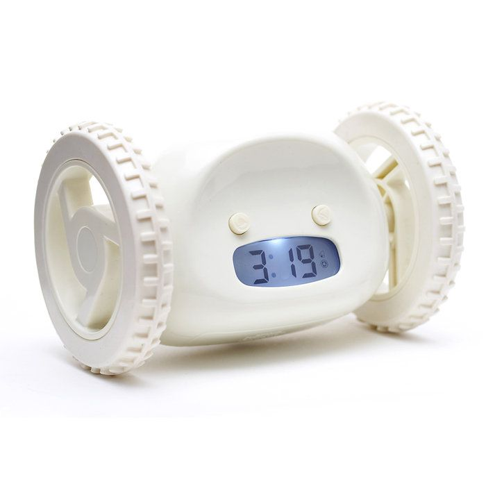 This Moving Alarm Clock Will Ensure Your Feet Hit The Floor When