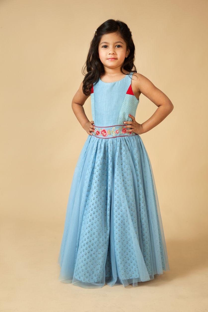Satin-net gown