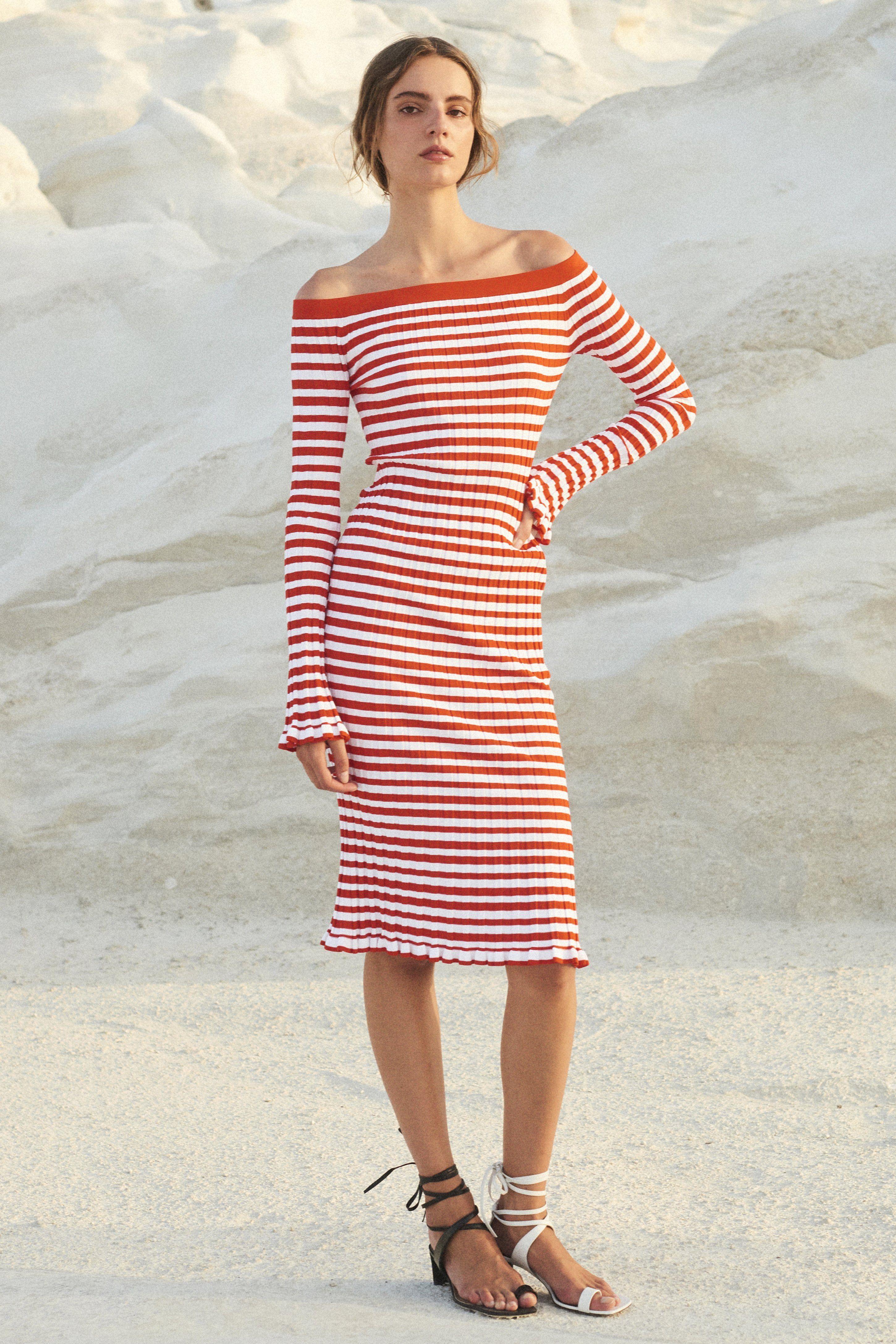 1309e4c78e RIBBED OFF SHOULDER DRESS – Caroline Constas