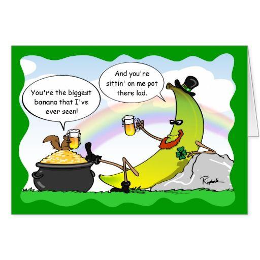 funny banana st patrick's day card  custom cards  zazzle