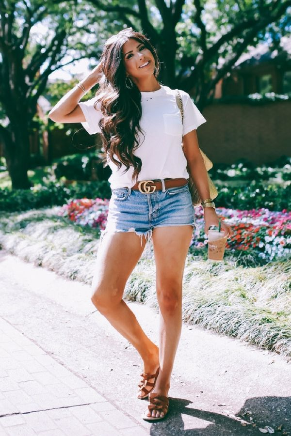 The Perfect Everyday Summer Outfit | Vintage White Tee + Cut-Offs | The Sweetest Thing