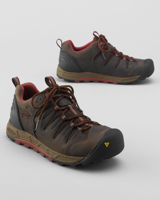 Keen® Bryce Waterproof Hiking Shoes - Eddie Bauer 100.00 - waterproof, breathable, moisture wicking, leather upper, rubber sole, comfortable