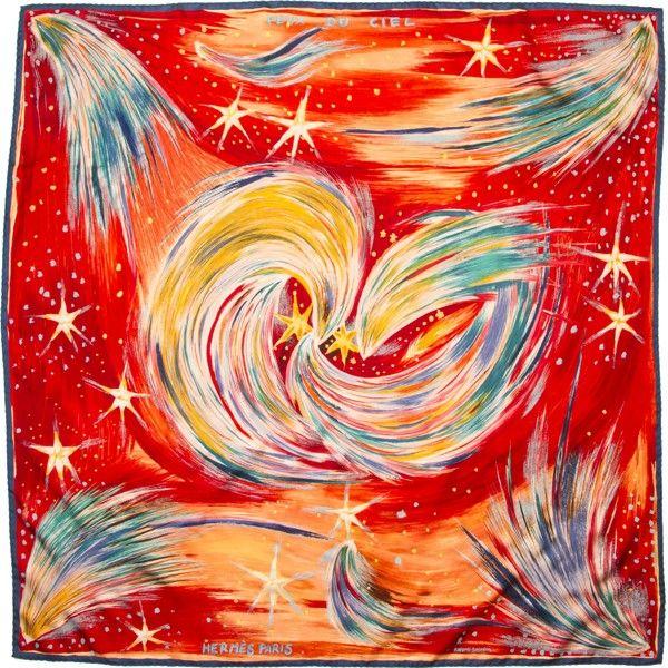 """Vintage Silk Hermes Scarf """"Feux du Ciel"""""""