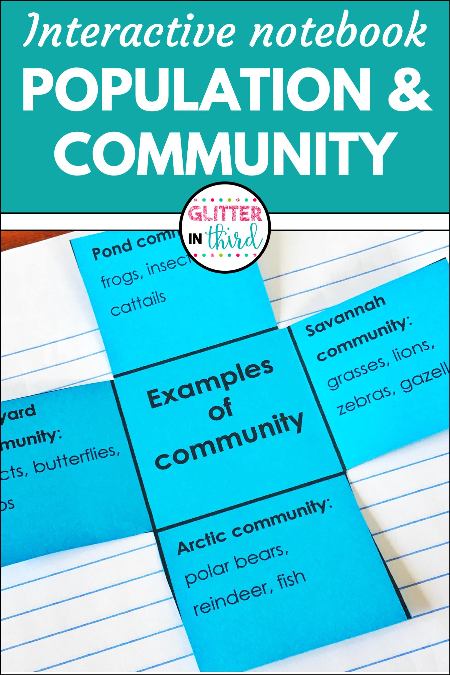 Population Community Amp Ecosystems Interactive Notebook