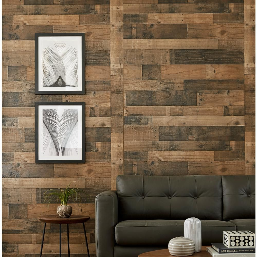 Authentic Pallet 32 Sq Ft Mdf Paneling 169822 The Home Depot Decorative Wall Panels Wall Paneling 4x8 Wall Paneling