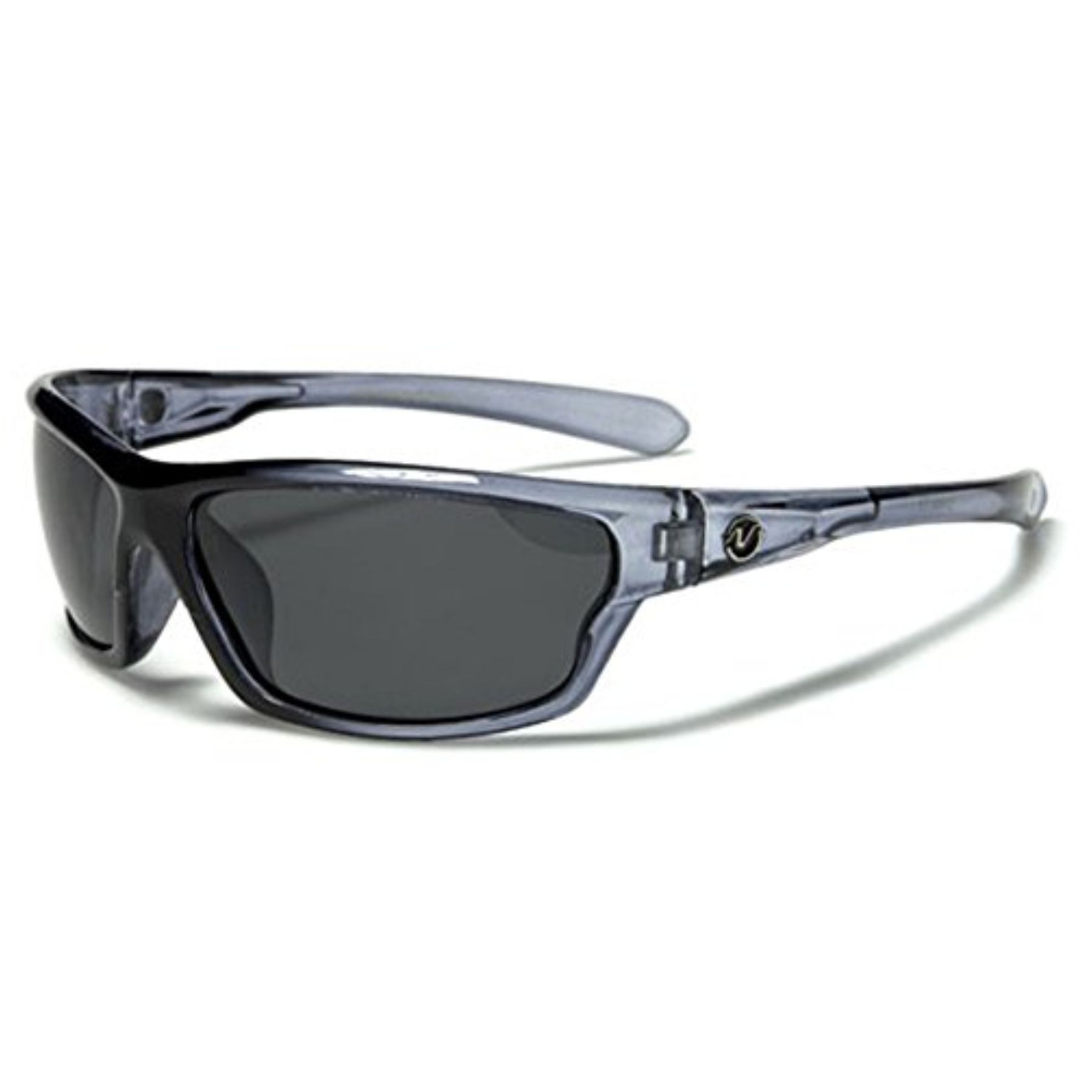 Mens Wrap Frame Xloop Polarised Sunglasses Carbon Fiber Print Polarized Lens