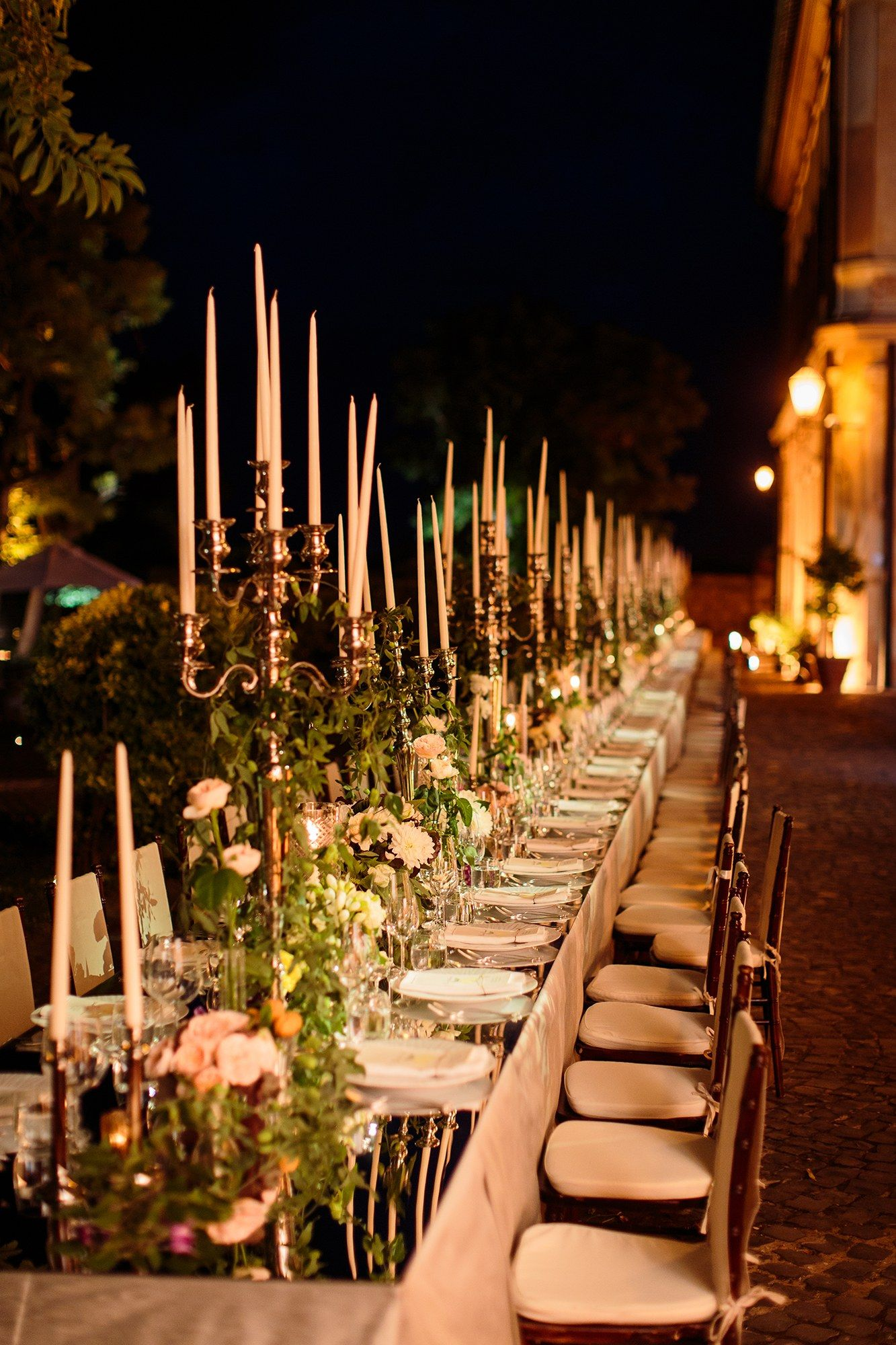 We told Fête that we wanted one long banquet table for all of our guests with flowers that pulled from the surroundings in terra-cotta and aubergine hues. Jung, Allison, and the team brought our ideas to life more beautifully than we thought possible.