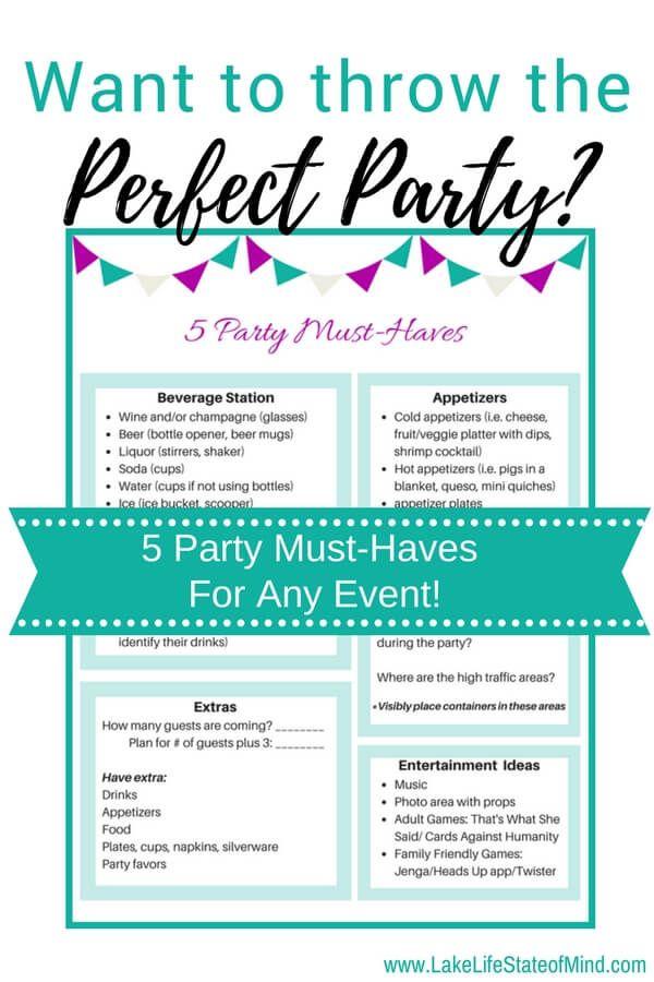 Photo of 5 Dinge, die Sie auf jeder Party haben müssen | Kostenlos druckbar inklusive