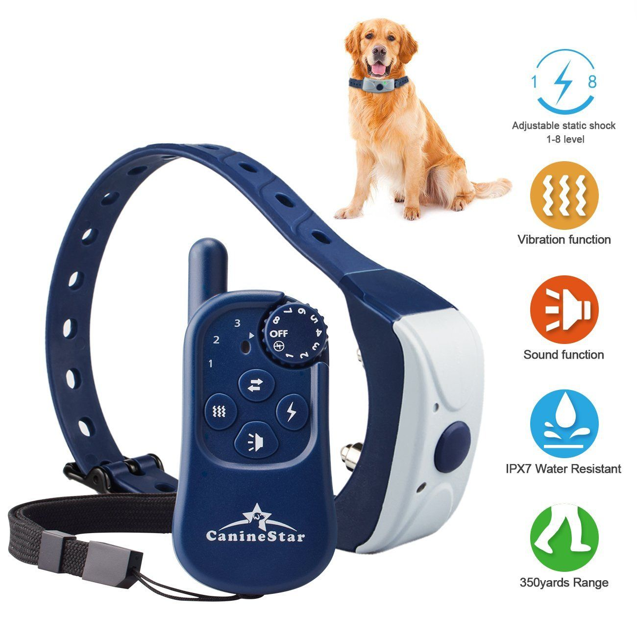 Remote Electronic Dog Collar Training Collars With Beep Vibrating
