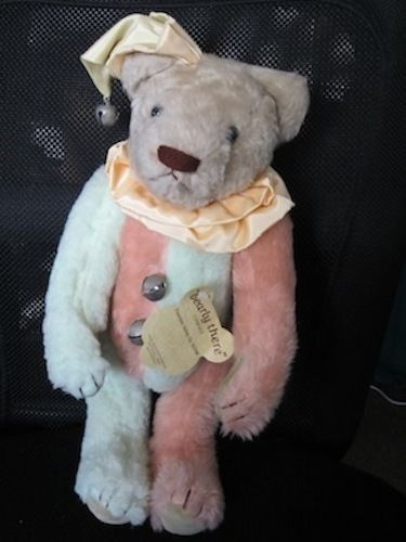 """Bearly There Company - 1982 Jester Bear 15"""" with jingle bells Mint Condition #BearlyThereCompany"""