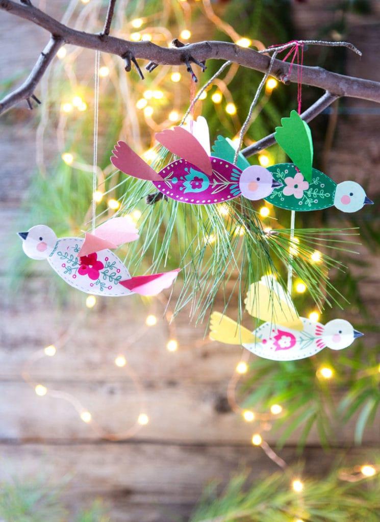 3d Paper Birds Christmas Crafts Ornaments Paper Christmas Ornaments Christmas Ornament Crafts Christmas Crafts