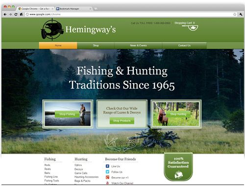 Website Templates Free Fishing & Hunting Shop  Wix Website Templates  Pinterest
