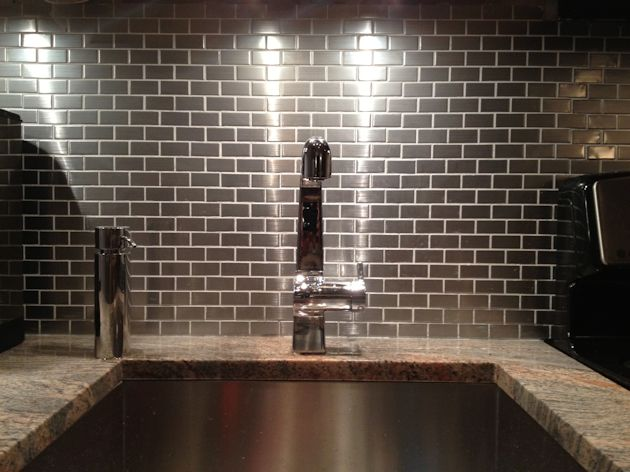 17 Best images about Amazing Metal Tile on Pinterest | Contemporary  bathrooms, Glass mosaic tiles - Metal Tile Backsplash Ideas Roselawnlutheran