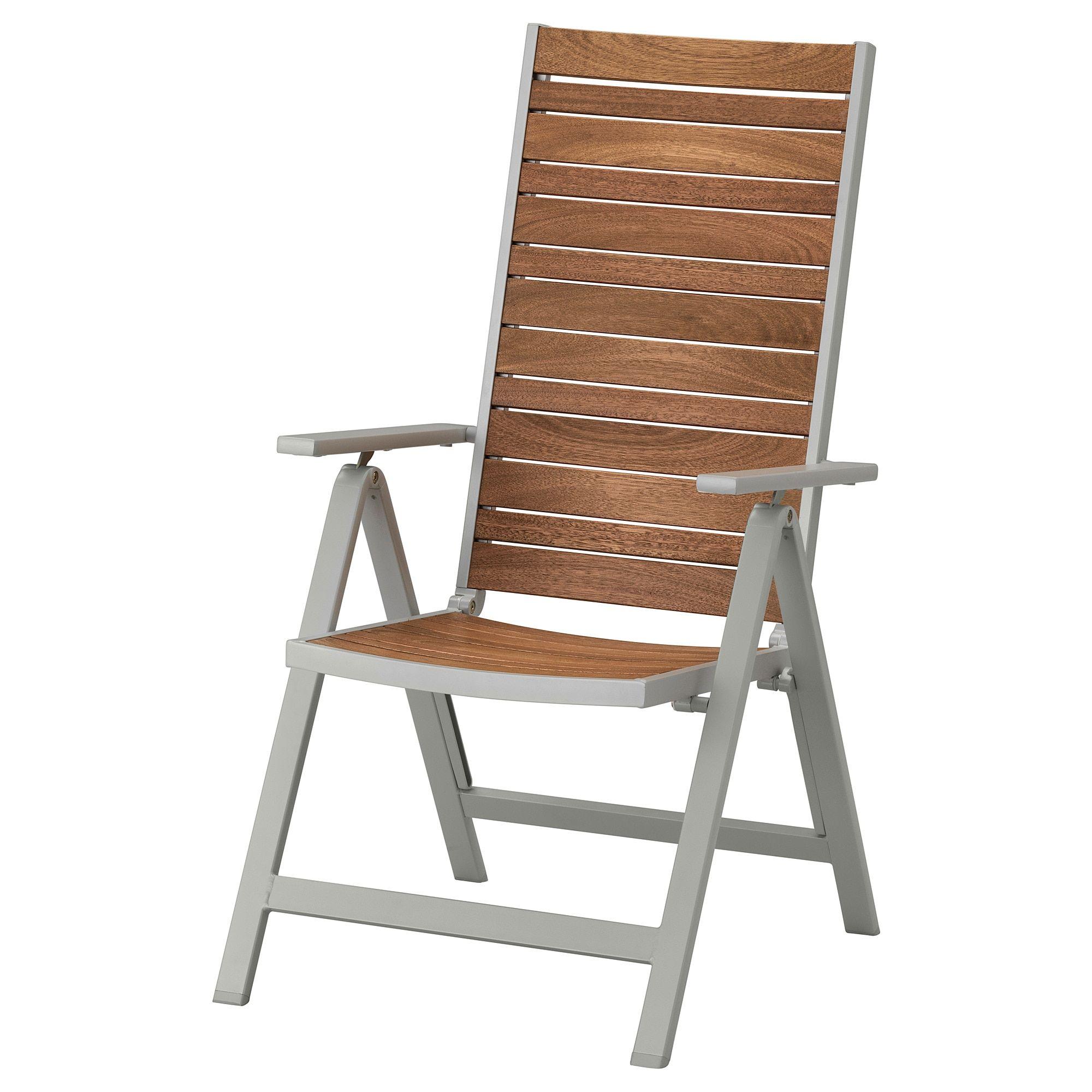 Excellent Ikea Sjalland Light Gray Foldable Light Brown Reclining Creativecarmelina Interior Chair Design Creativecarmelinacom