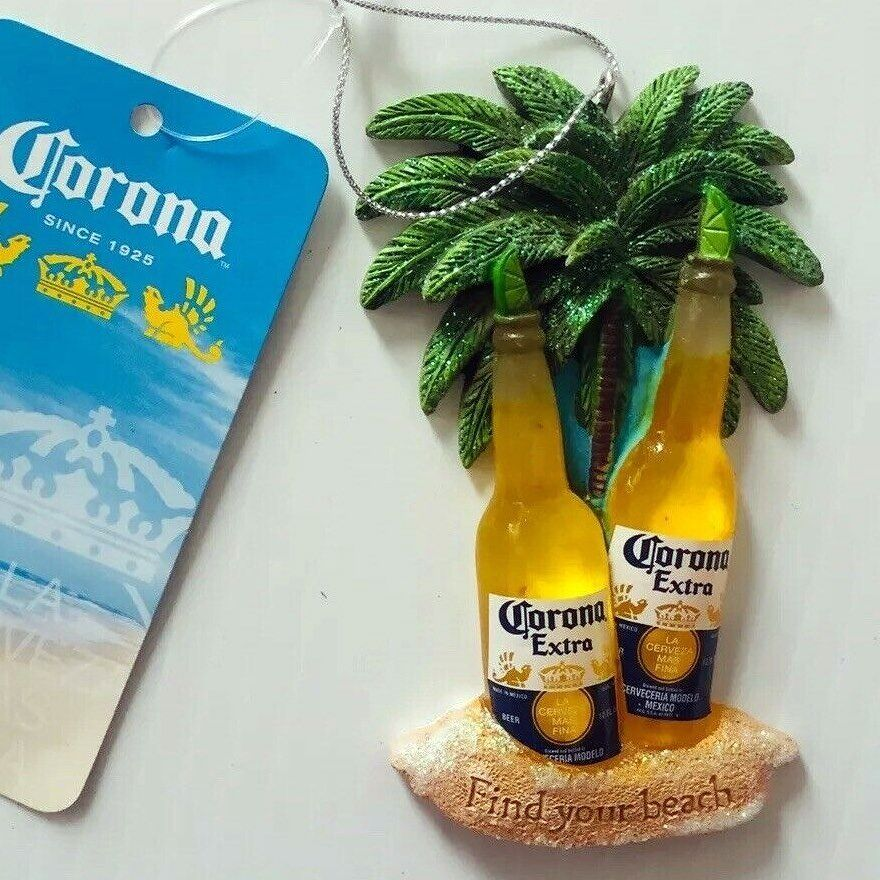 Corona Bottles With Limes Beach Holiday Ornament 4 Inch Margaritaville Fun In 2020 Corona Bottle Beach Ornaments How To Make Ornaments