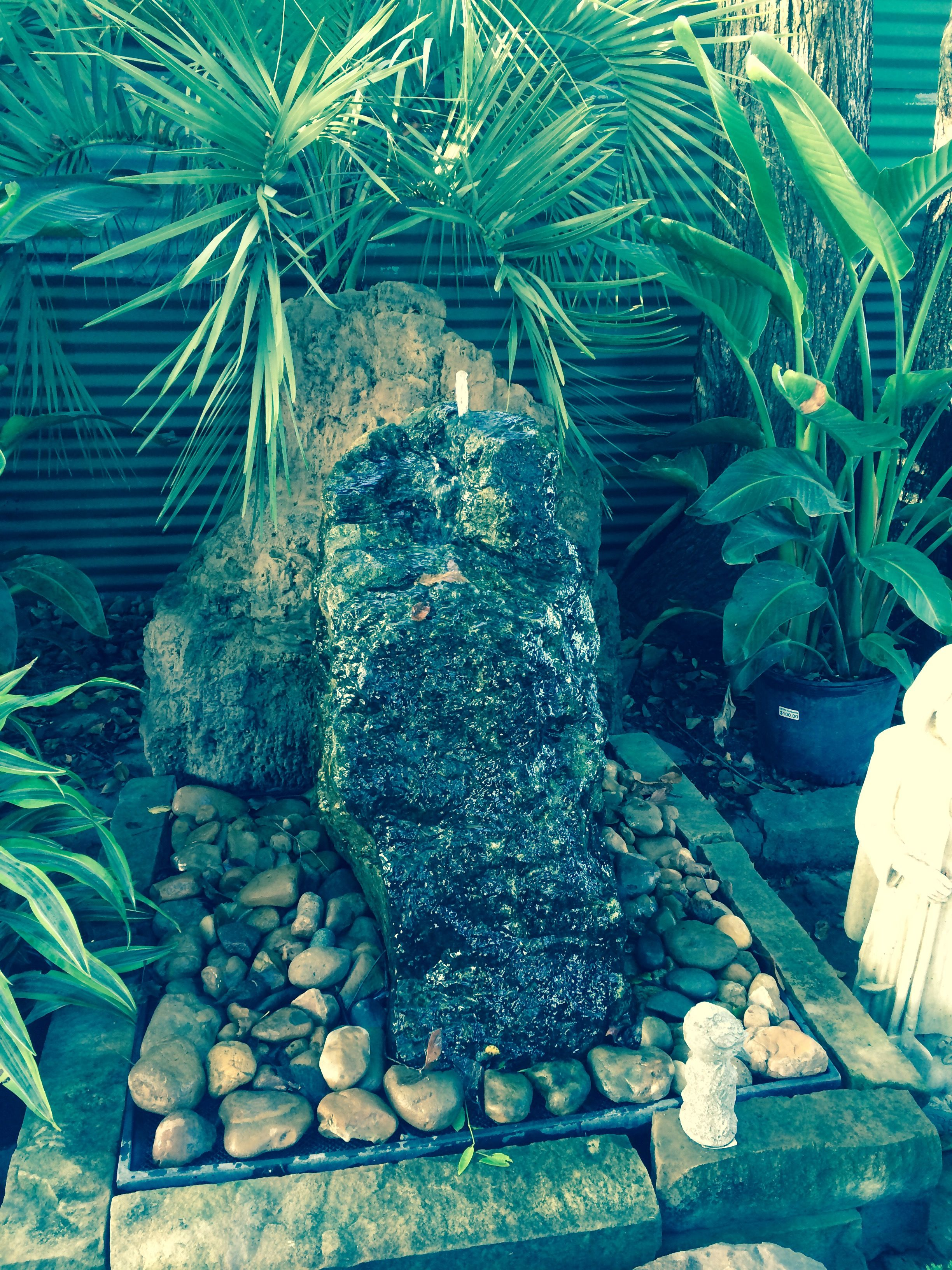 Weathered Rock Fountain Located At Rcw Nurseries Houston Tx