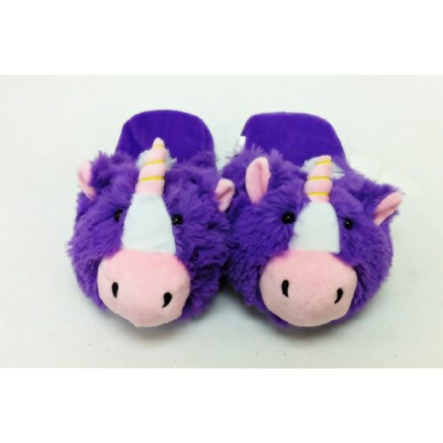 SMALL PURPLE UNICORN ANIMAL SLIPPERS PET CUSHION ANIMAL