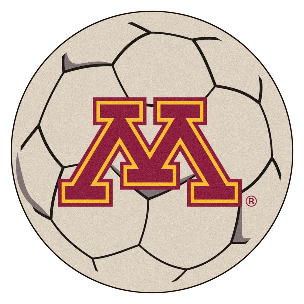 Ncaa University of Minnesota Cream (Ivory) 2 ft. 3 in. x 2 ft. 3 in. Round Accent Rug